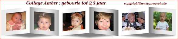 Amber: geboorte tot 2,5 jaar