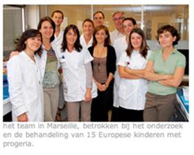 Team onderzoek naar ehandeling van 15 Europese kinderen met progeria.